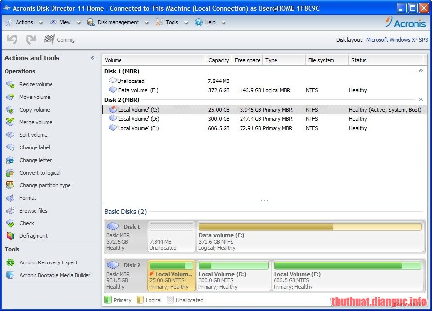 Download Acronis Disk Director 12.5 Build 163 Full Crack