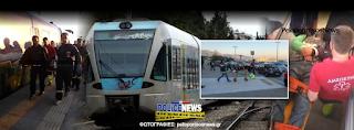 Εκτροχιασμός προαστιακού στους Αγίους Θεοδώρους – Τραυματίστηκαν επιβάτες – Εικόνες από το σημείο