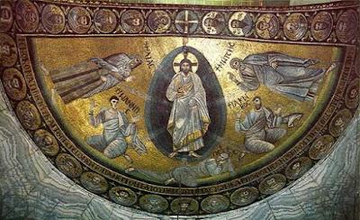 Η Μεταμόρφωση του Χριστού, ψηφιδωτό στην Αγία Αικατερίνη του Σινά, περ. 600 μ.Χ.