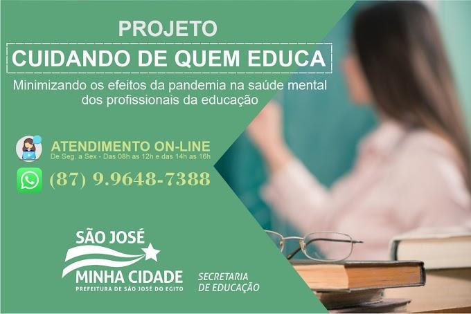 Projeto Cuidando de Quem educa atende profissionais da educação em SJE