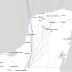 Cristobal varía su ruta: su centro pasaría entre Halachó, Celestún y Maxcanú, rumbo al Golfo de México