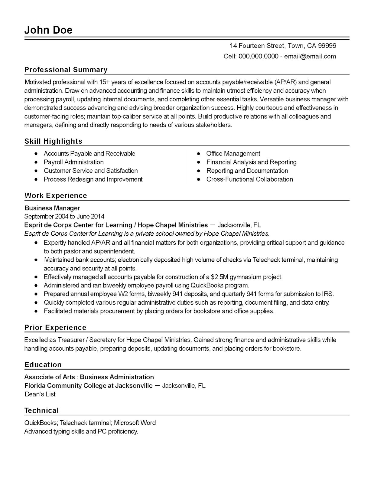 accounts payable resume example 2019 resume samples 2020