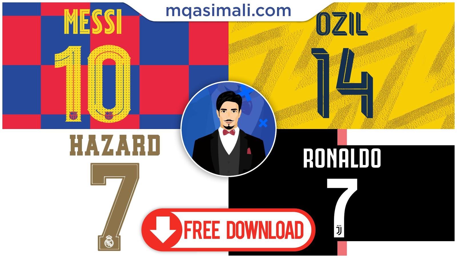 Real Madrid Fc Barcelona Juventus Arsenal 2019 20 Ttf Football Font Free Download By M Qasim Ali M Qasim Ali Sports Templates For Photoshop