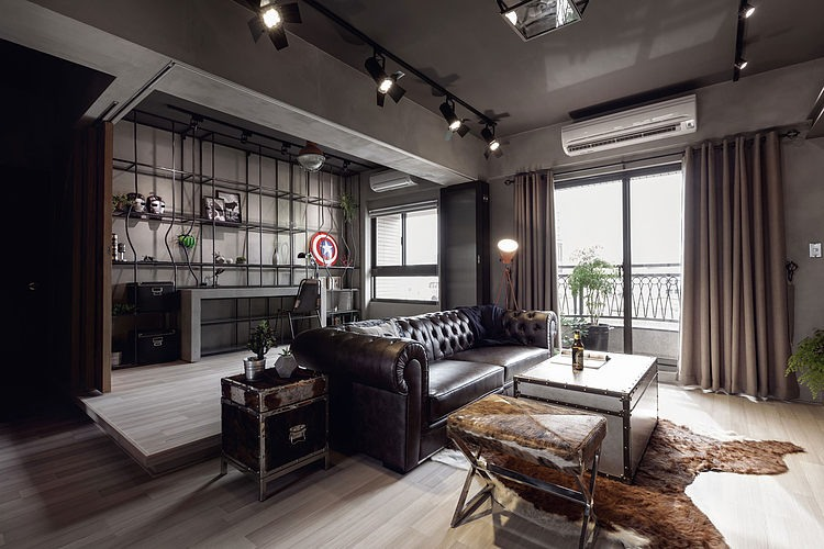 Masculine Style Apartment Interior Design Art Home Ideas