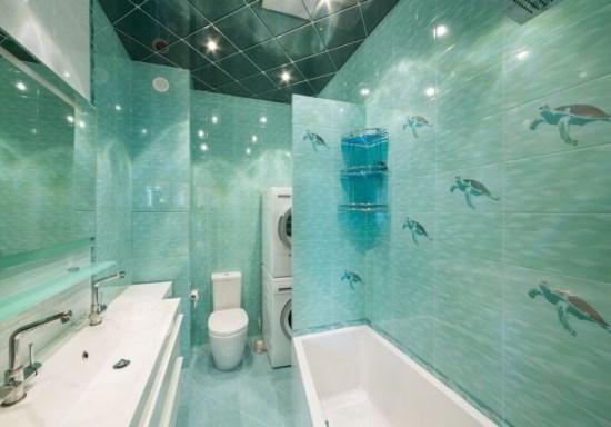 Keramik Dinding Kamar Mandi modern konsep laut