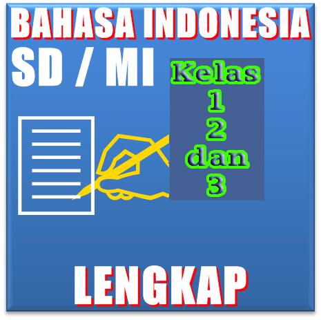Download Free Buku Bahasa Indonesia kelas 1, 2,  dan 3 lengkap
