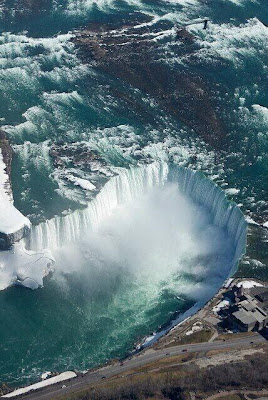 Vista aérea de las Cataratas del Niagara, Canadá.