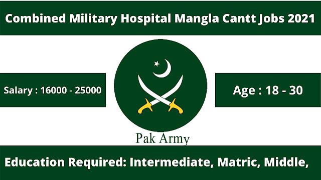Combined Military Hospital Mangla Cantt CMH Jobs 2021   Pak Army Jobs