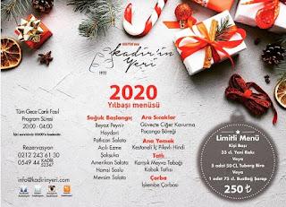 Krepen'deki Kadir'in Yeri İstanbul Yılbaşı Programı 2020 Menüsü