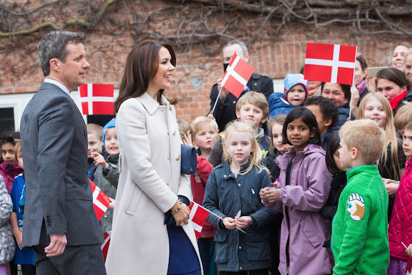 Crown Prince Frederik and Crown Princess Mary of Denmark, President Enrique Pena Nieto, and his wife Angelica Rivera attends visit to Tjornegaard School