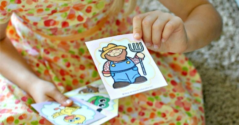 printable games for kids - old maid farm game