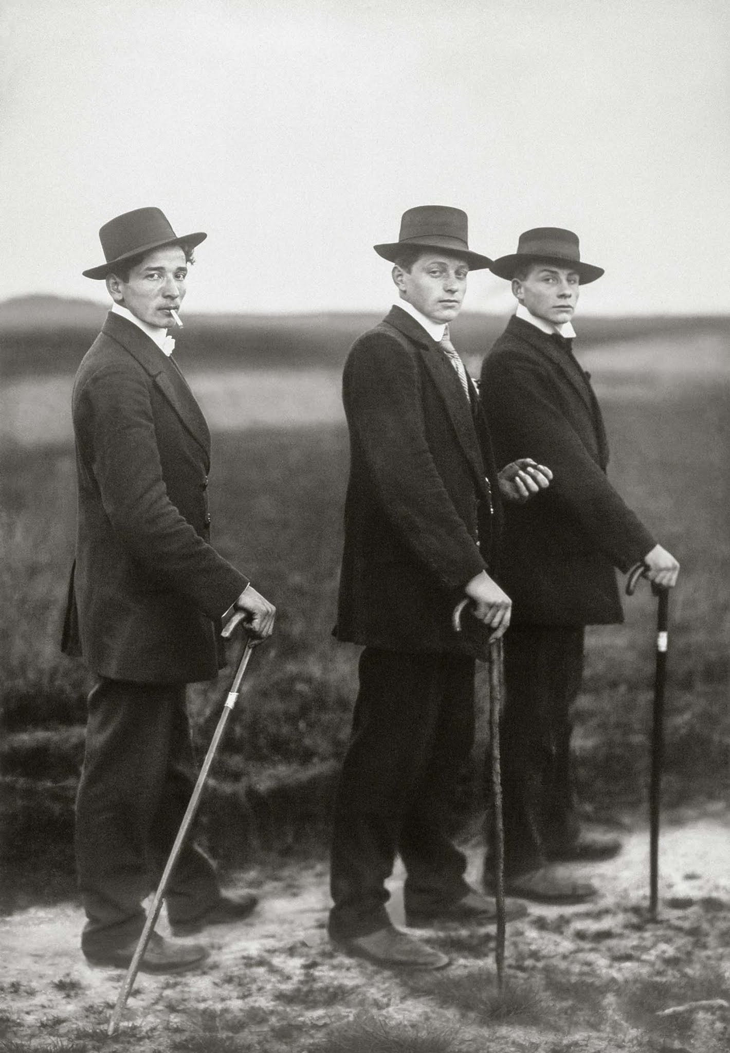 Young Farmers, 1914 - Photographer: August Sander.