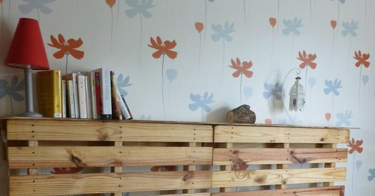 les glanages de la glaneuse t te de lit en palette. Black Bedroom Furniture Sets. Home Design Ideas