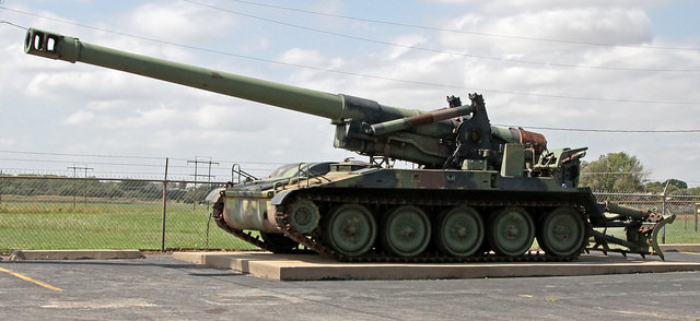 self-propelled artillery M110 203-mm howitzer