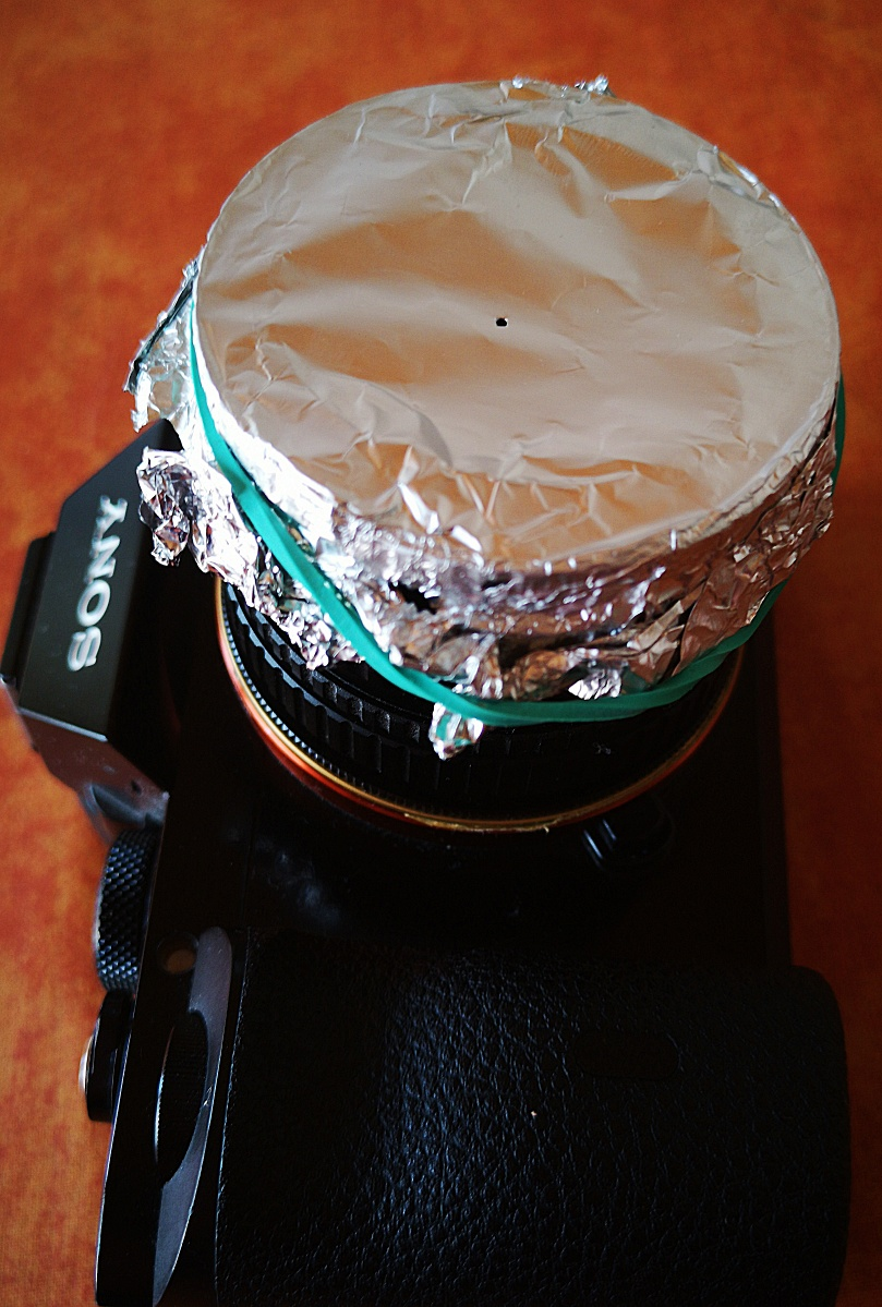 Selbstgebaute Lochblende (DIY pinhole) (1)