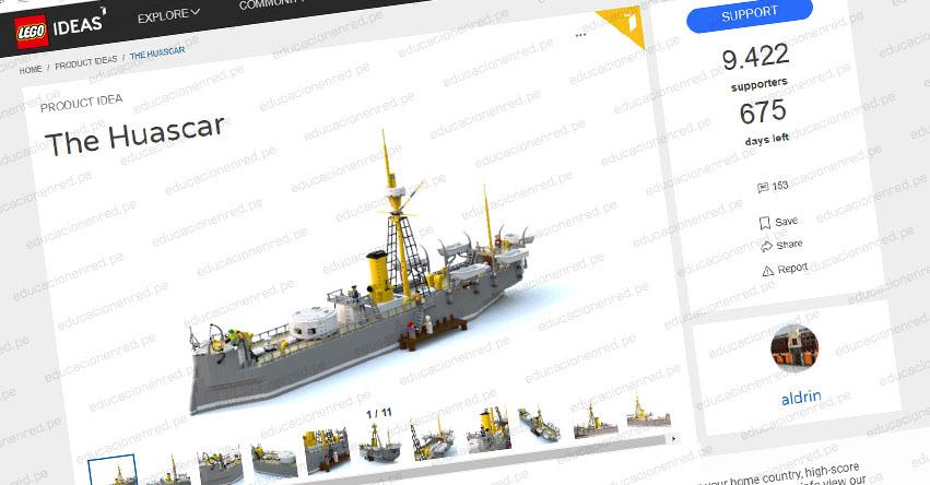 MONITOR HUÁSCAR: Histórico buque peruano podría tener set en Lego si gana votación en internet - www.lego.com