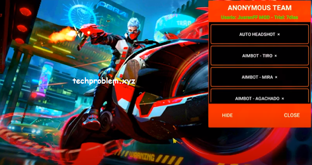 Cheat FF Mod Menu Anonymous Team Work Rank Auto Headshot Aimbot Antiban