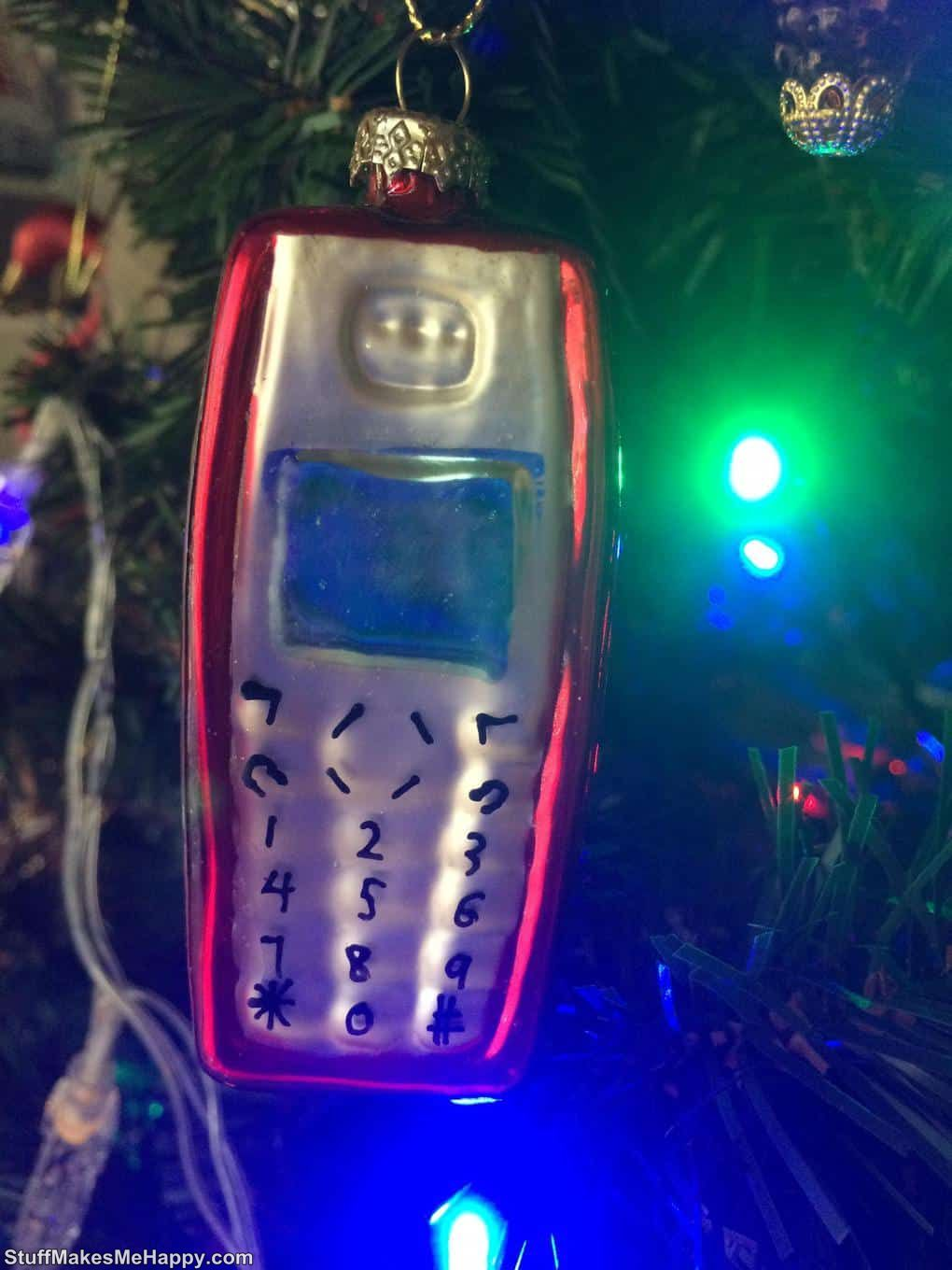 14. The old phone turns ... into a Christmas tree toy!