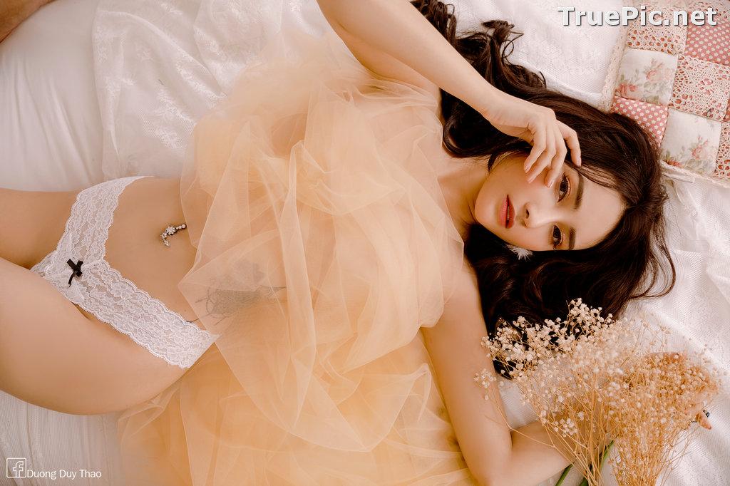 Image Vietnamese Hot Girl – Nguyen Thi Phi Yen - Sexy White Lingerie - TruePic.net - Picture-8