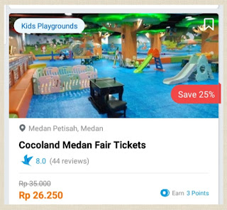cocoland medan fair menu playground traveloka xprience