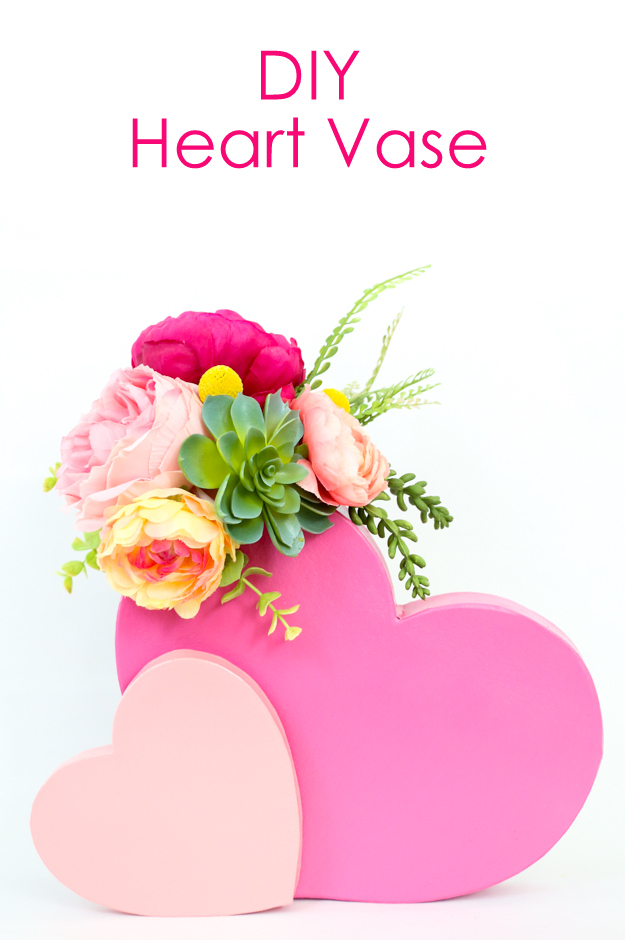 Learn how to make your own heart vase for Valentine's Day - craft idea - DIY project - Home decor - target style - flower vase - DIY Vase
