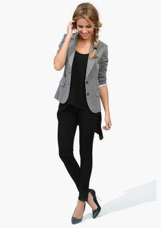 Plain Grey Slim Fit Blazer