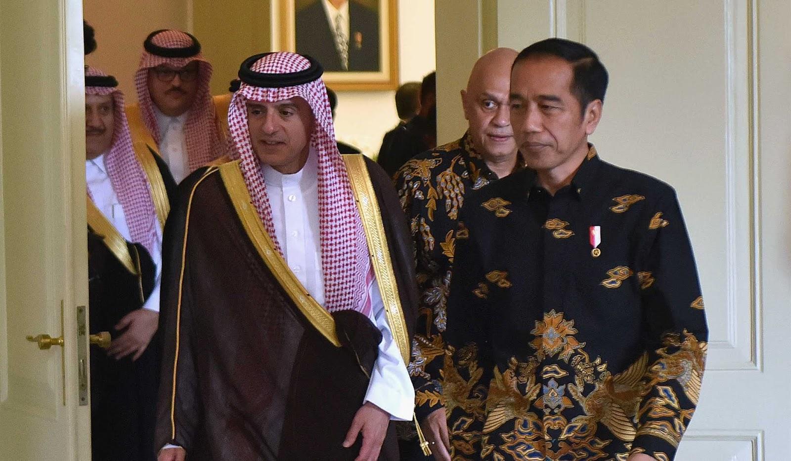 Presiden Jokowi Terima Menlu Arab Saudi, dan Sampaikan Keprihatinan Atas Kasus Khashoggi
