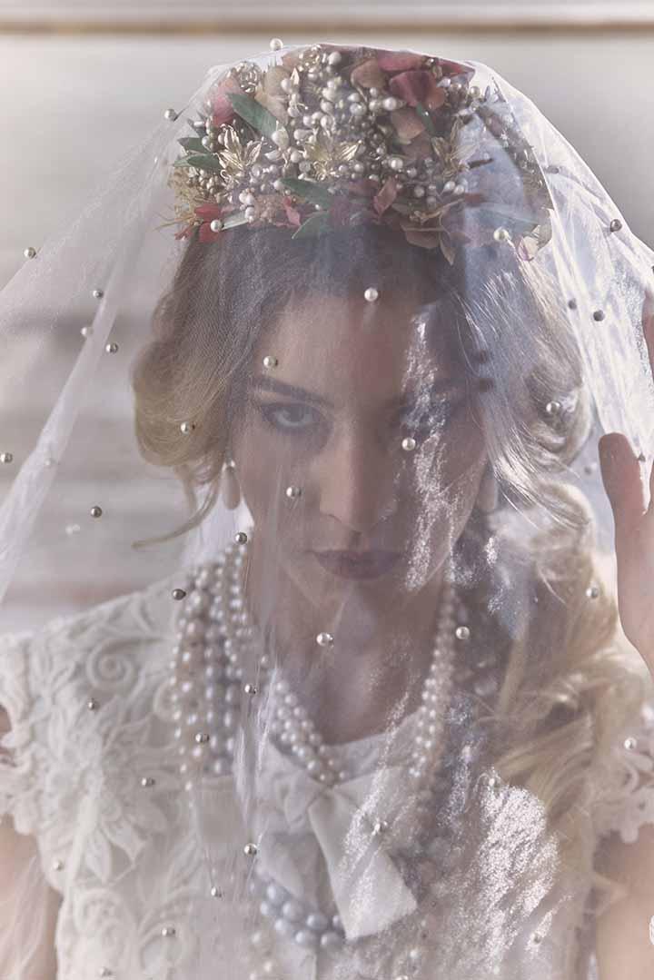 peinado novia con velo 2020