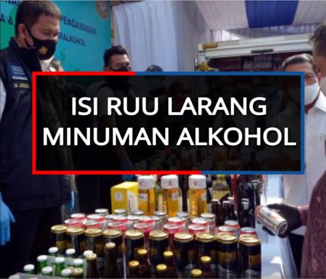 Isi Draf RUU Larangan Minuman Alkohol, yang Mengkonsumsi Dipenjara 2 Tahun dan Denda Rp50 Juta