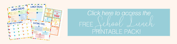 School Lunch Box Idea Printable Pack by Ellabella Designs