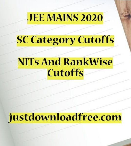 NIT OBC CUTOFF 2020 FOR BTECH