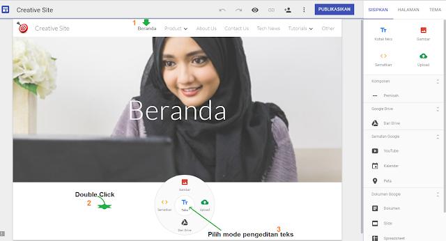 Google Sites: Cara Membuat Konten Atau Artikel