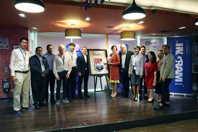 """Ingram Micro Gets Its First """"Great Place to Work"""" Certification in PH"""
