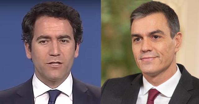 Teodoro García Egea y Pedro Sánchez
