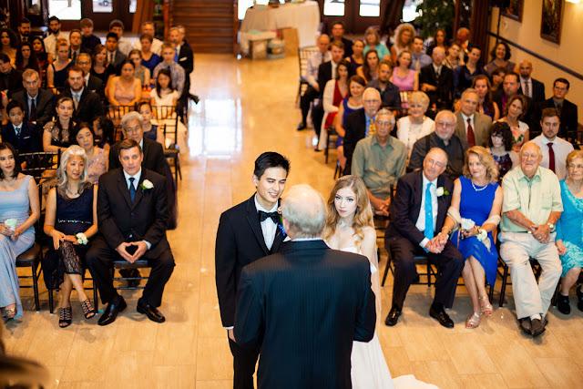 wedding ceremony at tavares pavilion on the lake