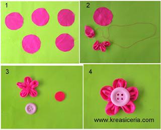 Tutorial 1 bross cantik DIY dari bahan kain perca