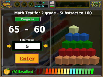 Math Test 2 Grade - Subtraction to 100