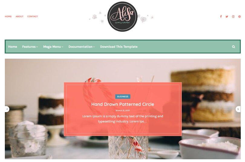 Alisa Blogger Template