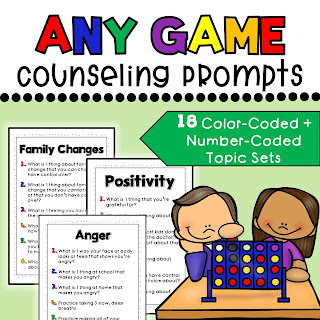 Any Game counseling prompts for elementary The Responsive Counselor