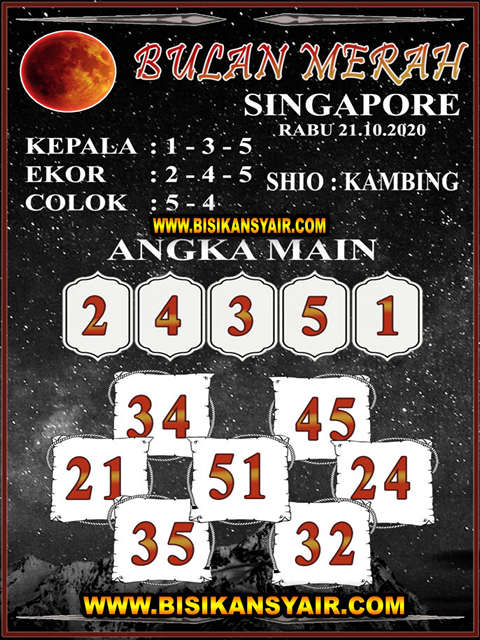 Kode syair Singapore Rabu 21 Oktober 2020 106