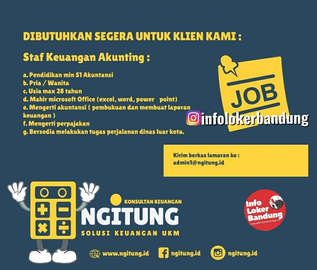 Lowongan Kerja Staf Keuangan Akunting Ngitung.id Bandung Januari 2020
