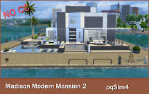 Madison Modern Mansion. Sims 4 Speed Build Video