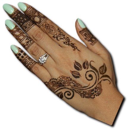 Back Hand Mehndi Design Indian