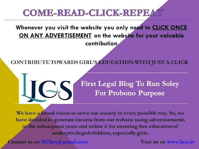 PROJECT CRCR: Come-Read-Click-Repeat (The best way to contribute towards GIRLS' EDUCATION in INDIA)