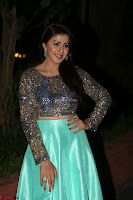 Nikki Galrani in Green Skirt  Top at Marakathamani music launch ~  Exclusive (8).JPG