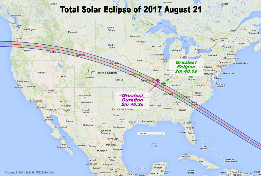 Total solar eclipse of 2017 august 21