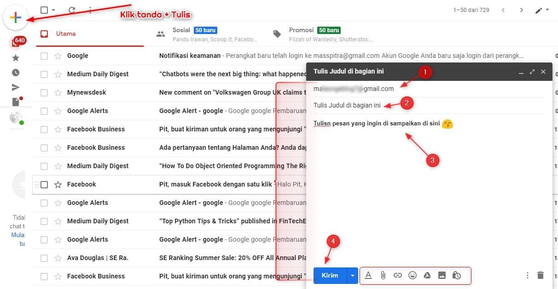 Cara Mengirim Email menggunakan Gmail