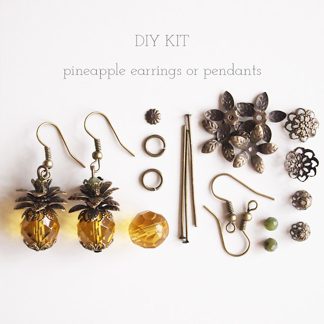 luibeads pineapple earring kit