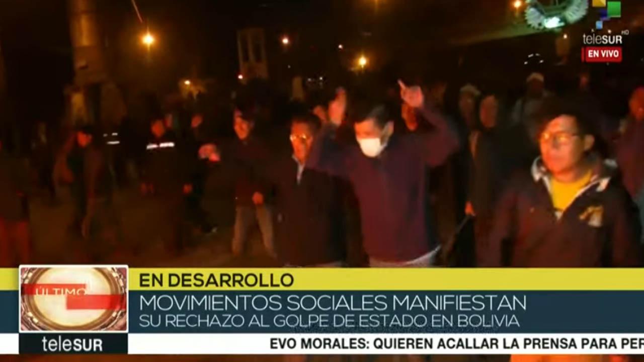Bolivia: ciudadanos rechazan intento de golpe de Estado en El Alto