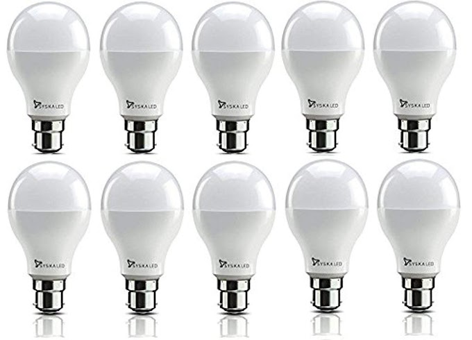 Rs,754/- Syska SRL Base B22 9-Watt LED Bulb (Pack of 10, Cool White)